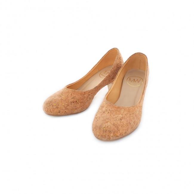 Cork Heels (Gold)