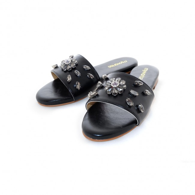 Flower Stone Sandle (Black)
