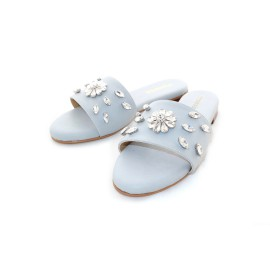 Flower Stone Sandle (Grey)