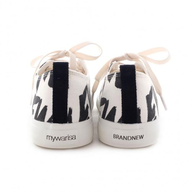 mywarisa x brandnew Sneaker ( White -Black)